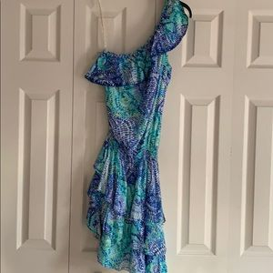 Lilly Pulitzer One Shoulder Peighton Dress NWT